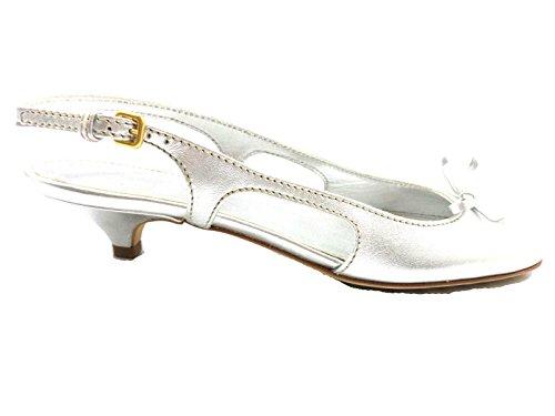 CAR SHOE sandali donna 36,5 EU argento pelle AY878
