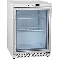 Royal Catering Nevera Expositora Para Bebidas RCGK-W200 (170 L, Potencia 180 W, 3 estantes, Puerta batiente con cerradura, Rango de temperatura 0–8 °C)