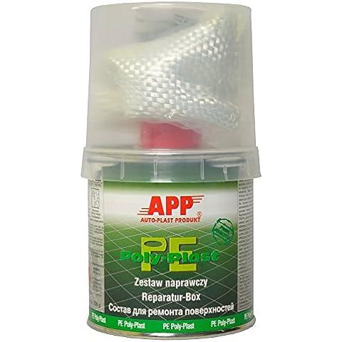 Resina di poliestere e indurente, per riparazioni, con tessuto di vetro, 250 g