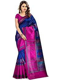 Miraan Women's Kora Silk Saree With Blouse Piece