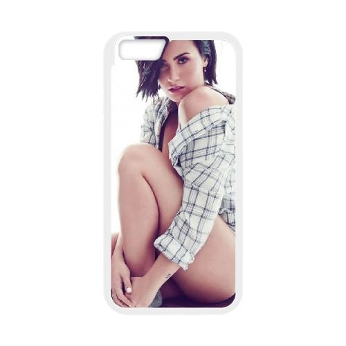 Demi Lovato coque iPhone 6 Plus 5.5 Inch Housse Blanc téléphone portable couverture de cas coque EBDXJKNBO10681