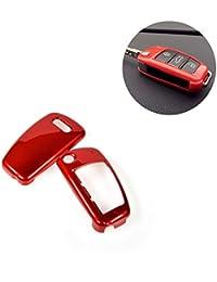 jcsportline Auto Coche Clave Cadenas–Carcasa de Protección para Audi A6L A1Q3, Q7, TT, R8A3S3 rojo rosso