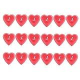 CAN_Deal 18 Stück Duft Teelicht Wachskerze für Alle Küchen, Schlafzimmer, Wohnzimmer, Büro, Geschenk und Mehr, Rot