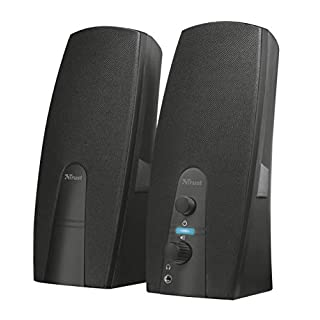 Trust Almo 2.0 PC Speakers for Computer and Laptop, 10 W, USB Powered, Black
