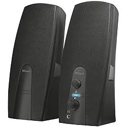 Trust Almo Enceinte PC 2.0 pour Ordinateur (10 Watt, Alimentation USB) - Noir
