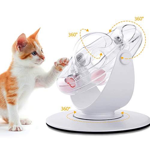 SAMMIU Katzenroller Spielzeug 360 Grad Interaktives Katzenspielzeug mit blinkendem Ball & Katzenminzenball Katzenjagdspielzeug Katzenübungsspielzeug