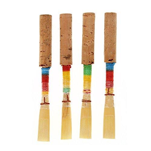 RiToEasysports Oboe Reed, 4Pcs Medium Soft Oboe Reed Blasinstrument Ersatzteile mit Kunststoff-Aufbewahrungsbox Medium Soft Case