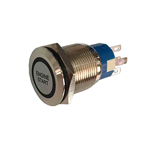 mintice 12/ V coche veh/ículo azul LED luz faro Push Button metal Interruptor 19/ mm motor Start