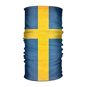 Walnut Cake Sturmhauben Flag of Sweden Headwear Caps Scarf Hair Band Hats Elastic Head Wrap