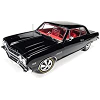 1965 Chevrolet Chevelle SS 396 Black 50th Engine Anniversary Limited Edition to 1002pcs 1/18 by Autoworld AMM1061 by Chevrolet - 1965 Chevrolet Chevelle