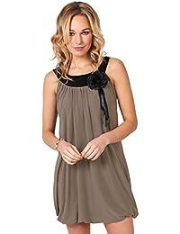 Damen Elegantes Oberteil Kurzes Kleid Sommer Minikleid Große Größen 34 - 48