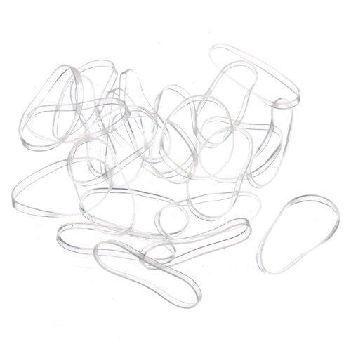 SODIAL(R) 200pcs Goma Elastico Transparente para Pelo Mujer Chica Regalo