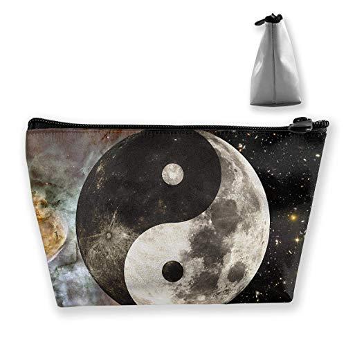 Tragbare Shell-Make-uptasche Kupplung Ying-Yang-Mond-Druck-Reise-Aufbewahrungstasche -