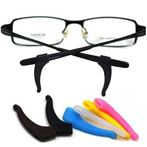 Vococal - 6 coppia Colori Misti Supporto in Silicone Antiscivolo Orecchio Presa Gancio per Occhiali da Vista Occhiali Tempio Punta,Colore Casuale