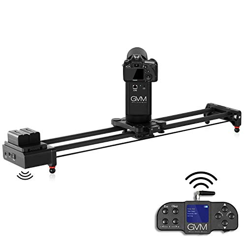 GVM Camera Slider Motorized Wireless Remote Control 2 Axis Camera Slider with Time Lapse, Follow Focus, 360 ° Panorama Video Shooting Tracking System,Video Slider Motorized 80cm