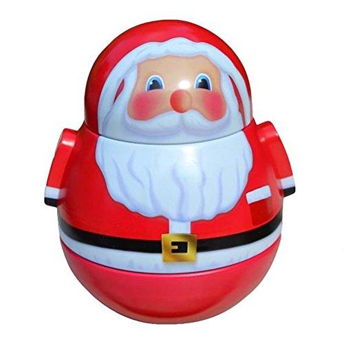 Boite culbuto métallique Le Père Noël