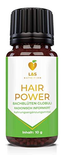 Hair Power Globuli | radionisch informiert | nach Haarwachstum, Haarausfall Produkten beim Mann und der Frau | 10g