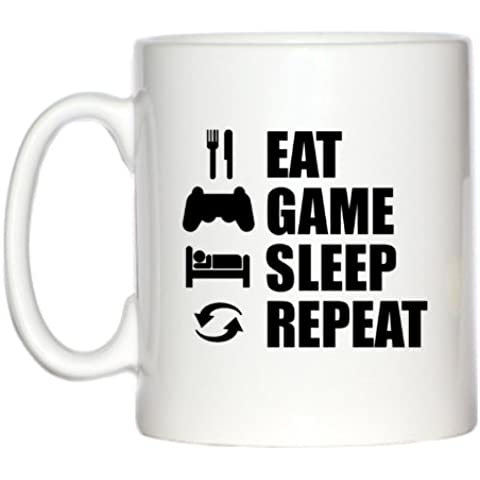 Eat Sleep Juego Repeat (PS), diseño 10 oz taza