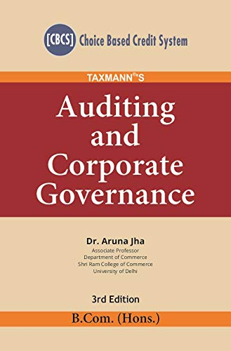 Taxmann's Auditing and Corporate Governance (CBCS) (B.Com-Hons.)(3rd Edition January 2020)