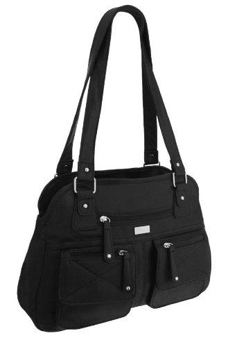EyeCatchBags - Larisa Damen Handtasche aus Kunstleder Schwarz