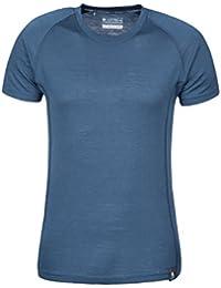 Mountain Warehouse Summit Merino Herren T-Shirt Unterhemd Thermounterwäsche Funktionsunterwäsche Ski Snowboard