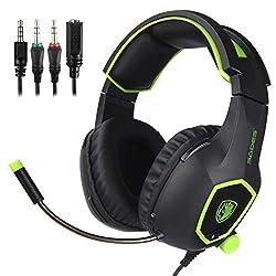SADES SA818 Gaming Kopfhörer mit Mikrofon für PS4 / Xbox One(Grün)
