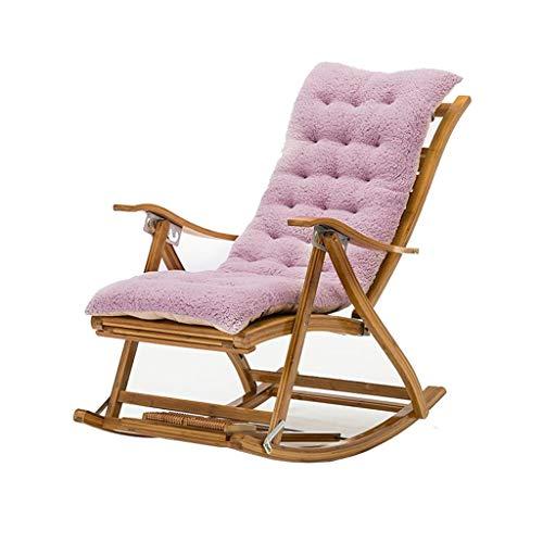 Klapp Schaukelstuhl Liegestuhl Liegestühle Bambus Stuhl Sonnenliege Garten Terrasse Terrasse Liege Home Nickerchen Stuhl Schwangere Frau Liege (Farbe : Lila, Design : B)