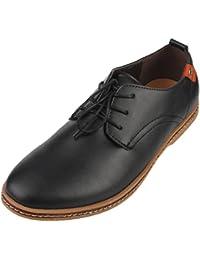 Y-BOA Richelieu Derby à Lacet Chaussure de Ville Cuir Homme Perméable Bureau Style Anglais