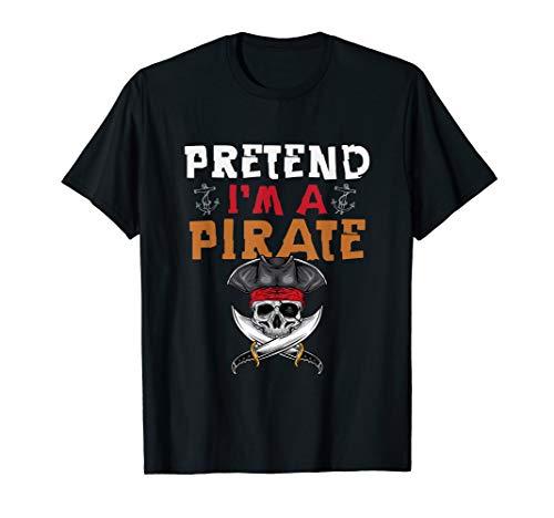Kostüm Damen Pirat Zombie - Tu So, Als Wäre Ich Ein Pirat - Piraten Kapitän Kostüm  T-Shirt