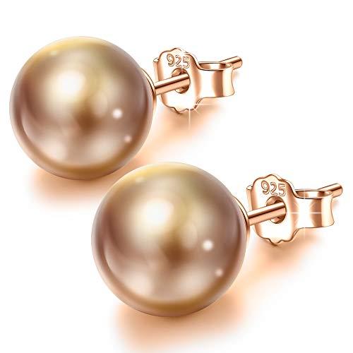 Susan Y Perlenohrringe für Mama Frauen Mädchen Silber Ohrringe feiner modeschmuck Geburtstagsgeschenke für Damen ihr Schwester Freundin Jubiläumsgeschenke für Frau