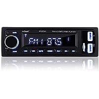 [Améliorée] ieGeek Autoradio avec Mains Libres Bluetooth, autoradio stéréo numérique Radio de Voiture, Lecteur multimédia USB / MP3 / WMA/WAV/TF/FM Récepteur, autoradio Universel Single Din