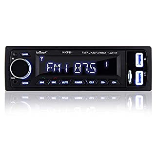 Verbesserte-ieGeek-Autoradio-mit-Bluetooth-FreisprecheinrichtungUSBMP3FMWMAWAVTF-Media-Player-FernbedienungSingle-Din-Universal-Autoradio