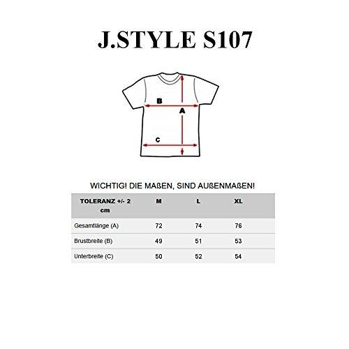 BOLF Herren T-Shirt Tee Kurzarm Rundhals Slim Fit Party Print 3C3 Motiv Schwarz