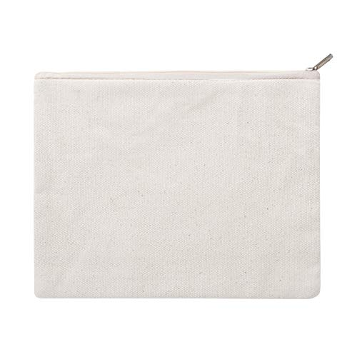 Aspire 30 Stück Beutel mit Reißverschluss, Baumwolle, ca. 340 g, 20,3 x 15,2 cm, blanko für DIY-Projekte. Einheitsgröße natur -