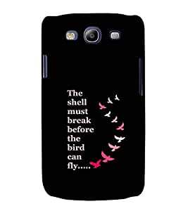 EPICCASE Bird can Fly Mobile Back Case Cover For Samsung Galaxy S3 Neo (Designer Case)