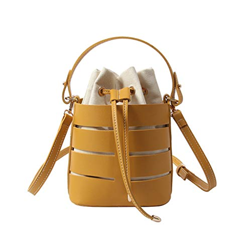 Produp Damenmode Hohl Umhängetasche Multifunktionstasche Mehrschichtige Handtasche