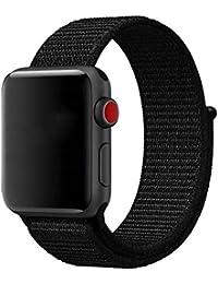 Bangcool Manzana Correa de Reloj Nylon Deporte Correa de Reloj para Apple Watch Series 3/2/1