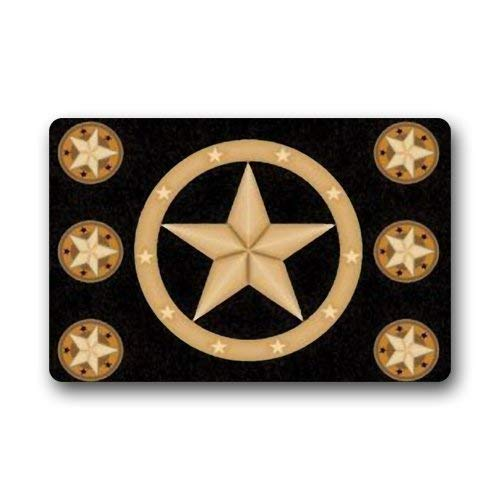 Aeykis Western Texas Star Non-Slip Rubber Door mat Floor Fußabtreters 23.6