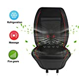 FEEYOO 12-Volt Car Seat Back Massager Cushion, Back Massager Chair with Cool