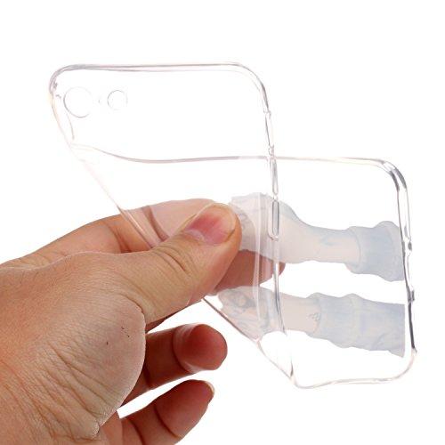 Etsue TPU Schutzhülle für iPhone 7 Ultra Dünn Crystal Silikon Handyhülle Case Cover, iPhone 7 Kristall Klar Durchsichtig Handytasche TPU Silikon Transparent Clear Case Weiche Rückseite Tasche Etui Bum Junge Finger