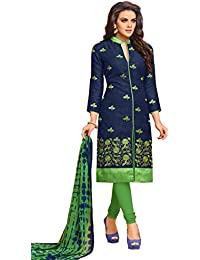 MF Next Women's Clothing For Casual Wear Look Professional ( Navy Blue Coloured Georgette Salwar Suit With Dupatta...