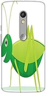 Snoogg Cute Cartoon Vector Grasshopper Designer Protective Back Case Cover For Motorola Moto X Play