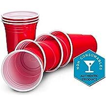 Set De Beer Pong Americano 25 Vasos Rojos Y 25 Bolas De Pimpon