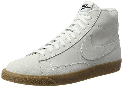 Nike Herren Blazer Mid Sneaker Weiß Off White-Gum Light Brown, 41 EU