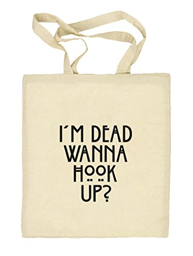 Shirtstreet24, AHS - Wanna Hook Up? Natur Stoffbeutel Jute Tasche (ONE SIZE) Natur