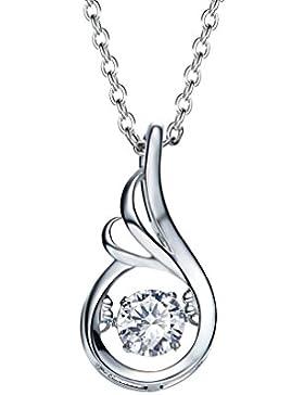 CEINTER Kristall Halsketten 925 Sterling Silber Kette Damen mit Kristallen Leben