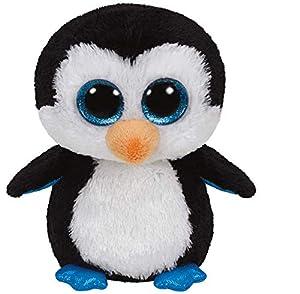 Ty 36008 Beanie Boos Waddles - Peluche de pingüino Importado de Alemania