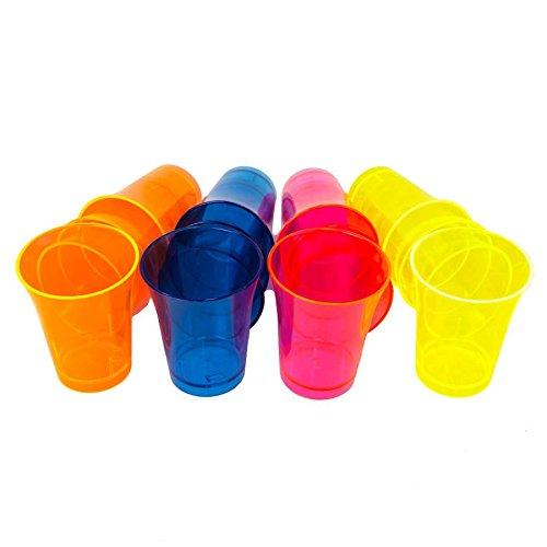 Neon Styles 617egbox Fluo UV lumière Noire Tasse de Boisson, luminosité par Propres Couleur, syles Marque de qualité, Plastique, 20 x 11 x 5 cm, 16 unités