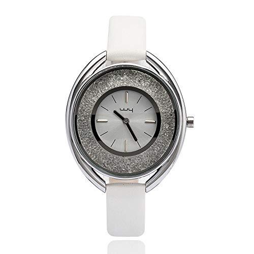 Die Leder Uhr Leder Weibliche Persönlichkeit Temperament Große Mädchen Mädchen Mode Dekoration Tisch Weiß