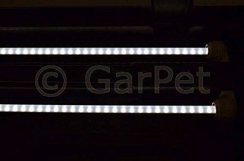120×50 cm Aquarium Terrarium Abdeckung LED T5 2×13 W Beleuchtung schwarz Deckel - 5